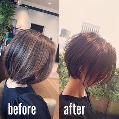 Ikeda Yuuta ✂︎Ginza / Kurzes Haar ✂︎ in 2019 Short Hair Back, Asian Short Hair, Medium Short Hair, Short Hair Cuts, Medium Hair Styles, Haircuts For Fine Hair, Cute Hairstyles For Short Hair, Hairstyles Haircuts, Japanese Short Hair