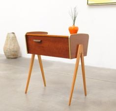 Love Mid-Century Danish Modern Teak Storage Table- Eames