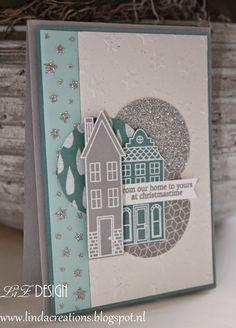 LizDesign Stampin Up Holiday Home Christmas Card 2