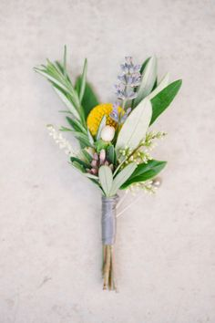 Wedding Inspiration - simple gathered boutonniere