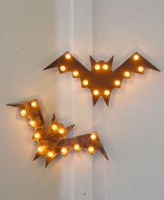 Large Flying Bat Marquee | Community Post: 15 Handmade Halloween Items You Can Enjoy All Year