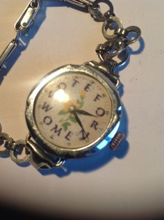 Vintage Ladies SUFFRAGETTE Wrist Watch for repair or wear by martonmere on Etsy https://www.etsy.com/listing/218727133/vintage-ladies-suffragette-wrist-watch