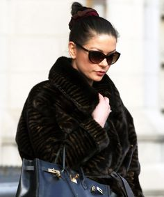 8 Celebrities Wearing Scrunchies, Because '90s Forever - Catherine Zeta-Jones from InStyle.com