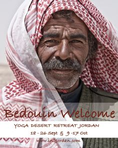 A Bedouin Welcome during our Yoga Desert Retreat. Find out more via: http://in2jordan.com/join-a-tour/yoga-horse-retreats/yoga-desert-retreat/