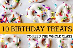 Birthday treats to take to kinder or school