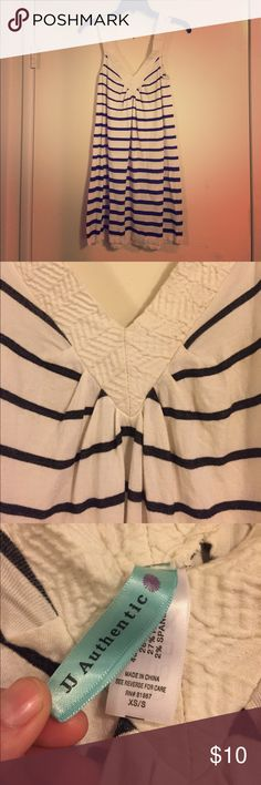 B&W Striped Top A size XS/S, flowy top that's incredibly comfortable! Some wear, but has nice detailing in the collar/straps. Measurements available if needed! Tops Tank Tops