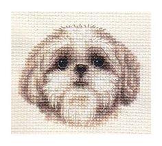 SHIH TZU puppy, dog ~ Full counted cross stitch kit