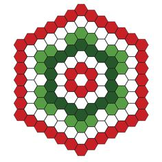 Free Christmas tree skirt hexi pattern - hexagon holiday