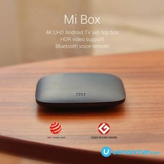 Connect to a world of content and entertainment at home with Mi Box. It runs on the latest Android TV which is easy to use, supports voice controls Home Tech, Smartphone News, Tv Sets, Latest Android, Latest Gadgets, 4k Uhd, Red Dots, Remote, Bluetooth