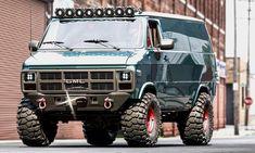 Lifted Van, A Team Van, 4x4 Van, All Terrain Tyres, Cool Vans, Expedition Vehicle, Custom Vans, Custom Trucks, Cool Trucks