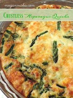 My Crustless Asparagus Quiche Recipe is delicious for breakfast and/or dinner. Made with organic eggs. organic milk and fresh asparagus. PLUS, it is so easy to make. Keto Quiche, Quiche Veggie, Asparagus Frittata, Asparagus Tart, Quiche Recipes, Asparagus Recipe, Fresh Asparagus, Recipes With Asparagus, Roast Asparagus