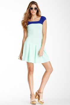 American Twist Contrast Yoke Dress by Assorted on @HauteLook