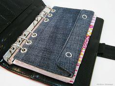 Weiteres - Filofax Personal Stiftetasche Zubehörtasche Jeans - ein Designerstück von rainbowcaraways bei DaWanda