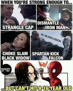38 Incredibly Funny Spider-Man And Avengers Memes That Will Make Fans Laugh Like. - 38 Incredibly Funny Spider-Man And Avengers Memes That Will Make Fans Laugh Like… 38 Incredibly - Marvel Dc Comics, Marvel Avengers, Avengers Humor, Marvel Jokes, Funny Marvel Memes, Dc Memes, Marvel Heroes, Funny Movie Memes, Marvel Girls