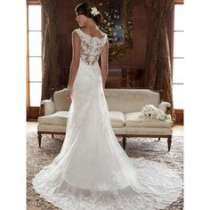 Vintage Wedding Dress with Lace Back - Star Bridal Apparel