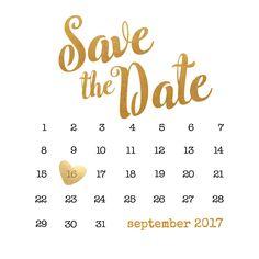 Save the date kaart met een kalender, verkrijgbaar bij #kaartje2go voor €1,99