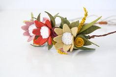 Felt Floral Flower Crown Autumn Girl You by SugarSnapBoutique