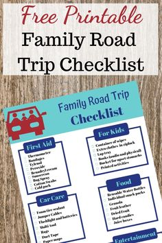 Never forget the essentials when going on a road trip with kids. This free printable family road trip checklist will prepare you when hitting the road.