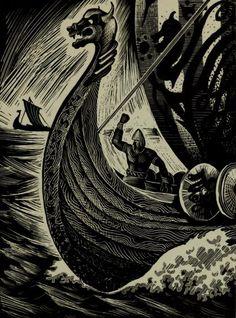 Gudrun Thorne-Thomsen, In Norway (1948) Illustrations by Eyvind Earle