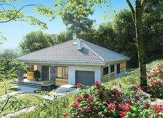 Blanka - murowana – beton komórkowy - zdjęcie 3 Bungalow House Plans, Bedroom House Plans, 2 Storey House Design, Compact House, Japanese Garden Design, Design Case, Gazebo, Outdoor Structures, Architecture