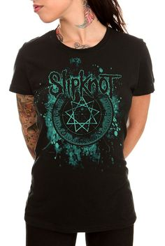 Slipknot Black Nonagram Tunic Top $22.00