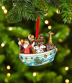 dillards trimmings cloisonne 4 noahs ark ornament dillards