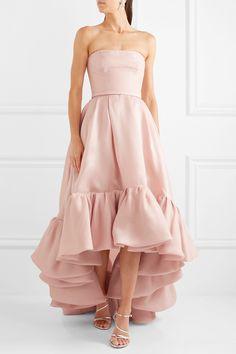 Reem Acra   Asymmetric ruffled silk-gazar gown   NET-A-PORTER.COM