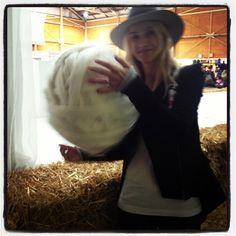 A massive ball of wool. Lanolips at The Royal Easter Show, 2012
