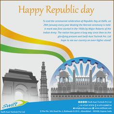 Happy Republic day from Swift Auxi Technik Pvt Ltd #HappyRepublicday #HopperLoader  #PowerderLoader  #WaterChiller  #ScrewChiller  W:http://www.swiftauxi.com/  M:+91 97247 97978