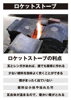 廃材の瓦ストーブ - OLIVE