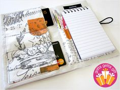 Notepad Folder To Go | Sew4Home  http://www.sew4home.com/projects/fabric-art-accents/notepad-folder-go