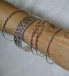 Setje van 8 zilveren armbanden - 8 silver Bracelets   Tribal Fusion juwelen…