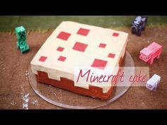 Make a real Minecraft cake at home with this easy recipe. Even noob bakers can do this!
