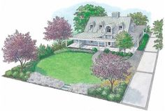 Eplans Landscape Plan - Contemporary Farmhouse from Eplans - House ...