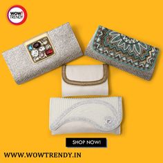 #clutch #party #accessories #fashion #handbag #slingbag #wowtrendy  Made of exotic Material with intricate detailing, the accessories are pure luxury. Add these Attractive Clutches in your wardrobe.  Available at : http://www.wowtrendy.in/bags-wallets-clutches/clutches.html