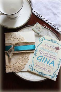 $20 for 5. Bridal Shower Tea Invitation, Tea Party Invitation, Baby Shower Tea Invite