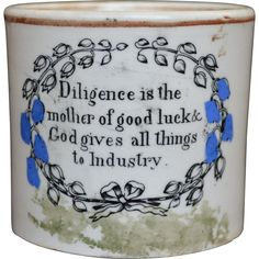 Staffordshire Childs Mug - early 19th Century from brown-and-brown-antiques on Ruby Lane