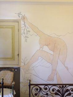 Villa Santo Sospir, murs peints par Cocteau
