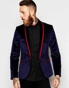 Latest Coat Pant Designs Purple Velvet Shawl Lapel Formal Mens Suit Skinny Prom Stylish Custom Men Tuxedo 2 Piece Terno gv9