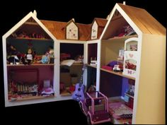 """American Girl Doll House Doll House for 18"""" dolls by RUSTICMOUNTAINCREATIONS on etsy.com"""