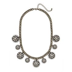 BaubleBar Ice Pavé Disco Necklace ($40) found on Polyvore