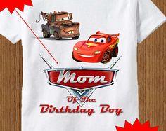 Disney Cars Dad Shirt Raglan Adult By BirthdaysGalore