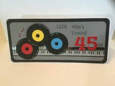 """Music card for just about any age when you add the """"ish""""!   By Heather Stewart  Scraptastics1.blogspot.com"""