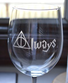 Always Harry Potter Wine Glass Customizing by EtchingsByBri