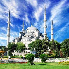 Die berühmte Blaue Moschee in Istanbul