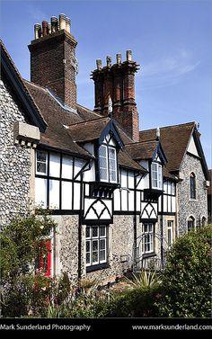 Half-Timbered Houses in Cromer, Norfolk, England, UK English Tudor, English House, Norfolk England, England Uk, Casas Tudor, Cromer Norfolk, Places In England, Tudor House, Medieval