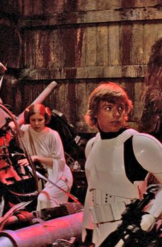 into the garbage chute, flyboy... - (star wars)(a new hope)(trash)(princess leia)(luke skywalker)