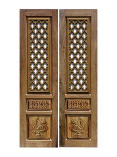 Pooja Room Door Design, Room Doors, Home Decor Kitchen, Wooden Doors, Cupboards, Home Decor Styles, Bed Room, Wood Carving, Home Interior Design