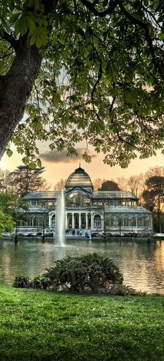 Crystal Palace, El Retiro park, Madrid, Spain More
