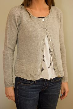 A classic, feminine cardigan with light texture and set in pockets to give it charm.